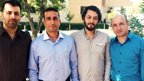 From left: Fadaie, Nadarkhani, Mossayebzadeh and Omidi