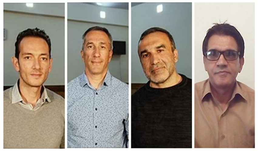 Bahram Nasibov, Eldar Gurbanov, Yusif Farhadov and Nasser Navard Gol-Tapeh